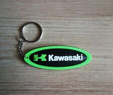 Kawasaki Keychain Green Rubber Black Key ring Motorcycle Collectible Gift New