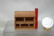 Miniature Dollhouse Vintage Childs Toy Dollhouse Wood Cabin  1:12 or 1:24 NR