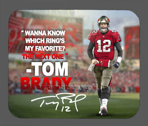 Tom Brady Tampa Bay Buccaneers Facsimile Autographed Mouse Pad Item#7815