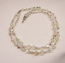 Vintage Marvella Crystal Bead Two Strand Necklace