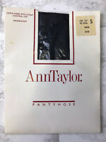 Vintage Ann Taylor Ultra Sheer Control Top Pantyhose , Color Black , Size Small