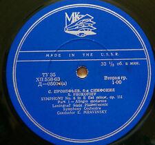 Mravinsky, Leningrad P Orch - Prokofiev : Symphony No. 6, Op. 111 - MK Д-05016/7