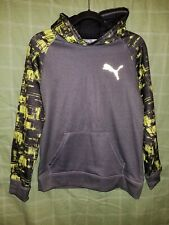 Puma Youth Hoodie Color: Gray w/ Lime Green Graphic Youth Size: Xl(18-20) Nice!