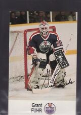 1988-89 ESSO HOCKEY GRANT FUHR OILERS NMMT/MINT *56209