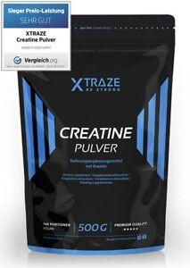 (€27,94/kg) Kreatin Creatine Pulver Monohydrat vegan - 500 g Beutel