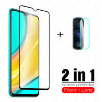 Full Cover Tempered Glass & Camera Lens Screen Protector For Xiaomi Redmi 9 2020