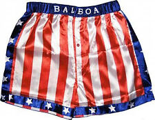 Rocky Balboa Boxhose,Boxshorts,Ringhose,Hose,Sporthose,rot,blau,Boxen,Kostüm