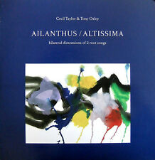 CECIL TAYLOR & TONY OXLEY-Ailanthus/Altissima-limited, hand-numbered-LAST CHANCE