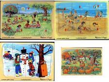 Melissa & Doug Seasons Peg Puzzle Set of 4 (NEW) 1714