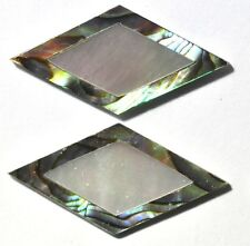 DIM2# 2 of Diamond Inlays In Abalone Outside w White Mother of Pearl Center