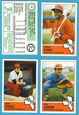 1983 Fritsch Midwest League Team Set Springfield Cardinals