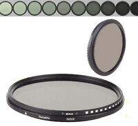 New Variable ND Filter Adjustable ND2 to ND400 58mm Neutral Density