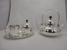 Wilkens Silhouette Teekanne + M&Z Set Silber 925 Bauhaus Stil RAR