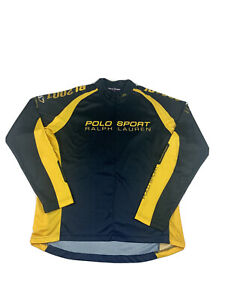 Vintage 90s 2001 Polo Ralph Lauren Sport Cycling Jersey Size XL