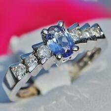 Effy 14k white gold 0.80ct natural tanzanite & diamond ring 3.0gr size 5.25