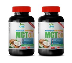 brain booster - MCT OIL 3600MG - energy boosters for women 2 Bottles
