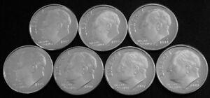 1992-1998 S Silver Roosevelt Dimes Gem Cameo Proof Run 7 Coin Set US Mint.