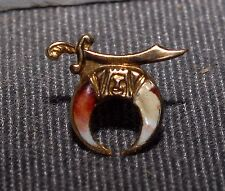 VERY NICE ANTIQUE YELLOW GOD SHRINER LAPEL PIN WITH WASHER HOLDER BACK - CHEAP!