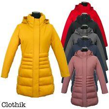 PIUMINO DONNA giacca giubbotto lungo cappotto invernale giaccone cappuccio parka