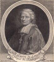 Portrait XVIIIe Pierre De Langle Evêque de Boulogne Théologien Janséniste 1750