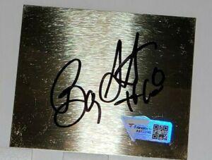 Autographed NASCAR Driver Bobby Labonte Signed 2.5 x 3 Metal Cut Plaque Fanatics