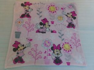 """Girls DISNEY Baby MINNIE MOUSE Flowers Pink PURPLE Security Blanket Lovey 30x33"""""""