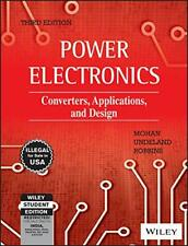 Brand New: Power Electronics: Converters Applications by Undeland 3rd  INTL ED