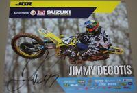 2018 Jimmy Decotis signed Joe Gibbs Racing Suzuki Supercross Motocross postcard