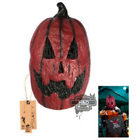 Horror Mask Halloween Red Pumpkin Hood Late Party Fancy Dress Props Adult Scary