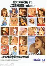 PUBLICITE ADVERTISING 066  1972  Materna puériculture vetements bébé enfants