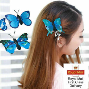 10X Pcs 3D Butterfly Hair Clips Hairpin Accessory Festival Party Wedding Bridal