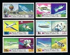 [77502] Yemen Kingdom 1970 Space Travel Aviation Balloon Concorde  MNH