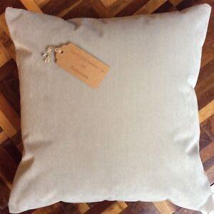 """New 16""""x16"""" hand made Marks & Spenser mushroom velour fabric cushion cover"""