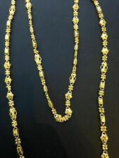 Classy Handgemachte Dubai Kette Halskette In Solides Hallmark 22 Karat Gelbgold