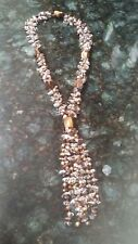 Genuine Tiger eye, Quartz, and Golden Pearl necklace