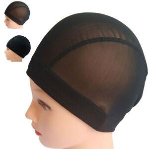 1PC Black Mesh Dome Wig Weaving Caps Elastic Nylon Breathable Mesh Net Hairnet