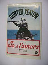 IO ... E L'AMORE - RARO CINEADESIVO 10X15 CM - NUOVO - BUSTER KEATON