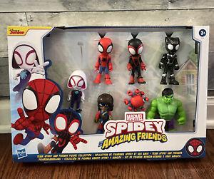 Spidey & His Amazing Friends Team Spidey & Friends Action Figure 7-Pack New Hulk