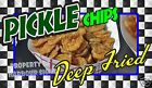 "Deep Fried Pickle Chips 14"" Concession Food Truck Restaurant Vinyl Stickers"
