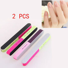 NEW 2 Pcs Nail Art Manicure 4 Way Shiner Buffer Buffing Block Sanding File XIC#1