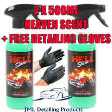 AUTOBRITE DIRECT 2X 500ML HELLSHINE HEAVEN SCENT AIR FRESHENER NEW CAR SMELL+GLO