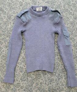 Genuine British RAF issue blue grey jersey jumper / pullover Grade-1