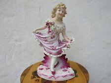 "Gebruder Heubach Hand Painted Dancing Girl Bisque Piano 15.5"" Figurine (c.1900)"