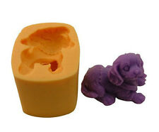 3D Dog Soap Mould Flexible Silicone Cookie Mold Chocolate Mould Polymer R0550