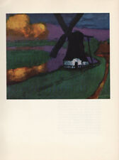 "1959 Vintage EMIL NOLDE ""WINDMILL"" UTENWARF GORGEOUS COLOR Offset Lithograph"