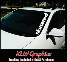 SLAMMED * Car Windshield Sticker JDM Euro Fresh Detailed Stance Fitment Decal