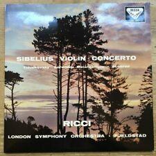 SXL 2077 Sibelius Violin Concerto / Ruggiero Ricci / Fjeldstad / LSO W/B