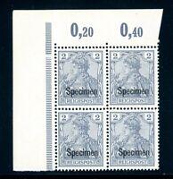Deutsches Reich 4er Block Eckrand MiNr. 53 SP postfrisch MNH (XXX