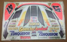 Tamiya 9495154 ORIGINAL Terra Conqueror Decal/Sticker (58115) NEW NIP (RARE)