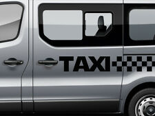 Black 2x Taxi Stripes: Minibus Car Advertising Vinyl Cab 7 Seater Sticker Sign